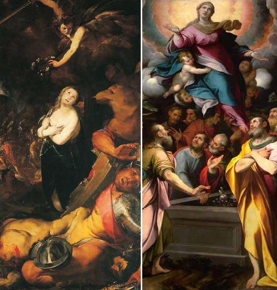 Cerano: Il martirio di S. Caterina (3a cappella). Camillo Procaccini (1561-1629): Assunzione di Maria.