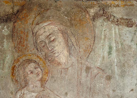 Particolare della Madonnina di S. Ambrogio e del Miracolo.