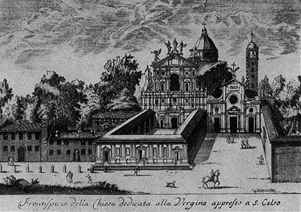Le due chiese all'inizio del 1800.