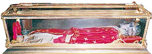 Urna con il corpo di S. Celso.