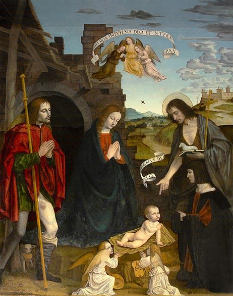 Bergognone: La Madonna tra i Santi (1a cappella).